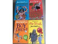 4 David Walliams kids books immaculate