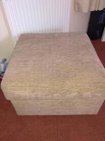 Sofas and footstool for sale £150. Good condition.