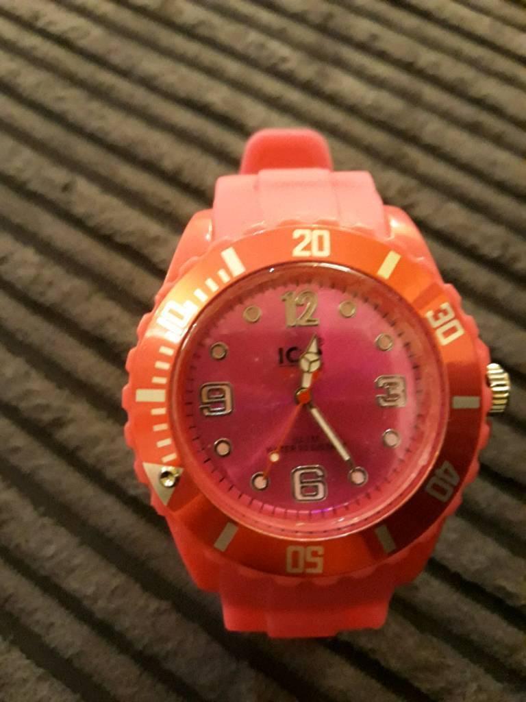 Ladies pink ice watch