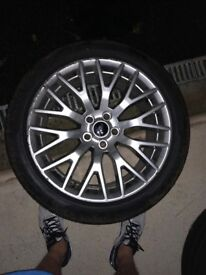 Ford Mustang 19 inch alloy wheels with brand new tyres