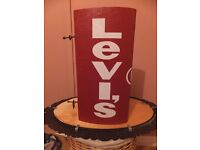 vintage levis shop classic red tab design double sided advertising sign