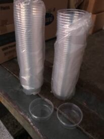 Clear Wide and Flat Food Pots 4oz - Limited - CHEAP!