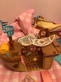 Sylvanian families pirate ship