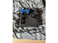PlayStation 4 Pro (PS4 pro) no box, console with 2 pads and cables.