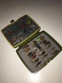 Fly Fishing hooks with protective box