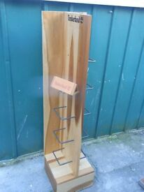 Timberland large shoe display stand wooden
