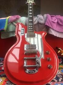 Airline Map Electric Guitar