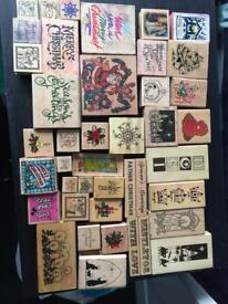 40+ Christmas rubber stamps