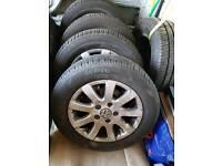 4 Vw alley tyres wheels