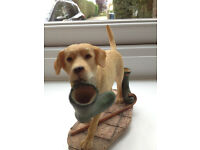 SHERRATT AND SIMPSON LABRADOR WITH WELLIES STATUE .... LOVELY HAND PAINTED MODEL