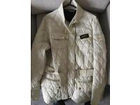 Barbour International Women's Cream Coat Sized 14