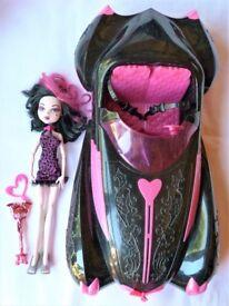 Monster High Draculaura Doll & Roadster Car.