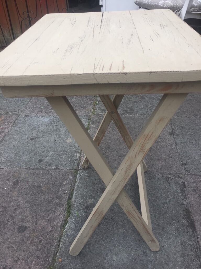 Small foldable side table ideal for outdoor bbq etc