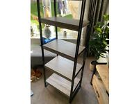 Shelving unit in Walnut and Black