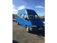 IDEAL CAMPER CONVERSION EXTRA HIGHTOP LONG WBASE FORD TRANSIT ONLY 54000 genuine miles px welcome