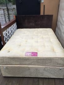 LOVELY DOUBLE BED + MATTRESS (EXCELLENT CONDITION!!)