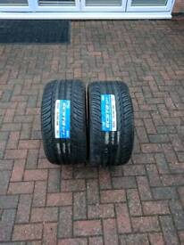 2 x Brand new car tyres