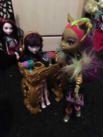 Monster high dolls/playset and accessories