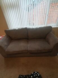 Grey sofa chrome legs, Used but in good condition