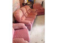 Sofa and 2 Armchair Set FREE ASAP