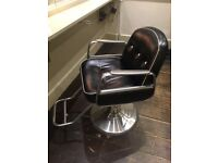 Takara Belmont Hairdresser Black Cadilla Barber Salon Chair
