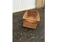 Wicker laundry basket for sale