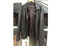 Mens Leather Jacket (dark brown X Large)