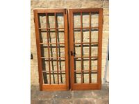 Pair of Quality Internal Double Doors. Solid Wood Complete With Door Furniture.
