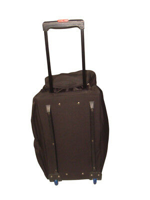 Rolling Duffle bag 26 inch with two outside pockets,hidden v