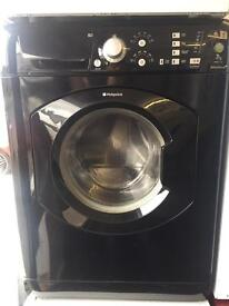 Hotpoint black good looking 7kg 1400spin washing machine cheap