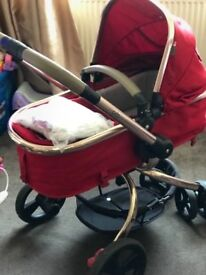 Red Mothercare Orb Pushchair
