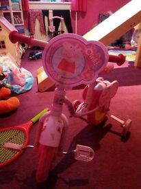 pepper pig bike and disney car