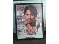 Large Johnny Depp Framed Cover