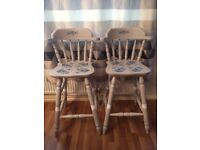 SOLID WOOD BAR CHAIRS/STOOLS