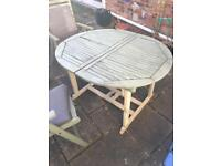 Garden table and chairs - excellent price!