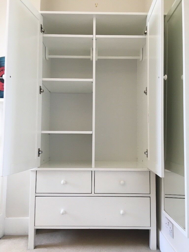 Quality White Wardrobe By Aspace With Flexible Shelves