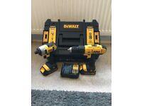 Dewalt 18v combi drill ad impact driver set