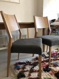 Ercol for John Lewis Pinter dining chairs x2
