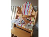 Stokke Tripp Trapp Adjustable High Chair and Accessories Natural Wood