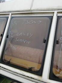 Bailey Scorpio Caravan front centre window