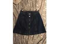 Topshop jean skirt size 6