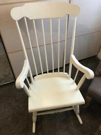 Wooden sturdy rocking chair nursery upcycle upcycling project vintage
