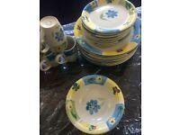 Stoneware dinner set for sale