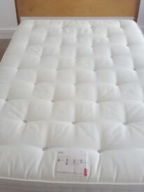 'Milan' Double Bed frame. Like New! M&S anti-allergy mattress included