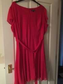 Pink occasion dress size 22/24