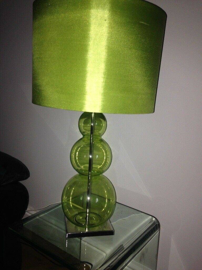 Next green glass bubble table lamp with shade in narborough next green glass bubble table lamp with shade aloadofball Gallery