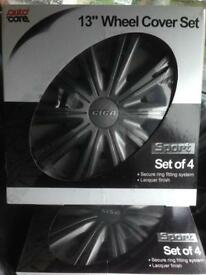 "13"" wheel trims brand new dark grey RRP £24.99"