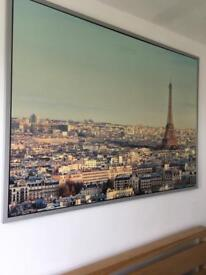 """Large Wall Picture of Paris France from Ikea 55"""" x 39"""""""