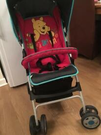 Hauck Sport Winnie the Pooh pushchair. 2 available £15 each. Can be sold separately.