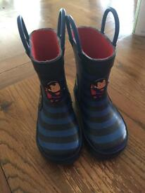 Size 5 dc marvel wellies from next